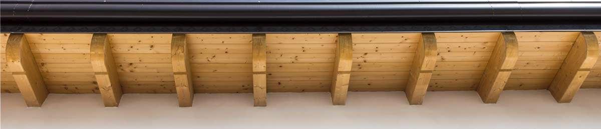 fondo lattoneria grondaia legno