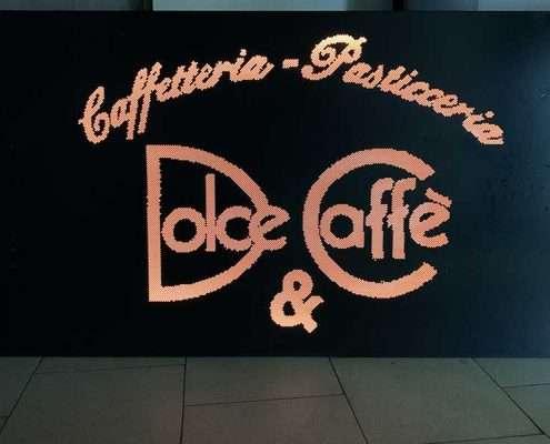 Insegna luminosa pasticceria dolce e caffe