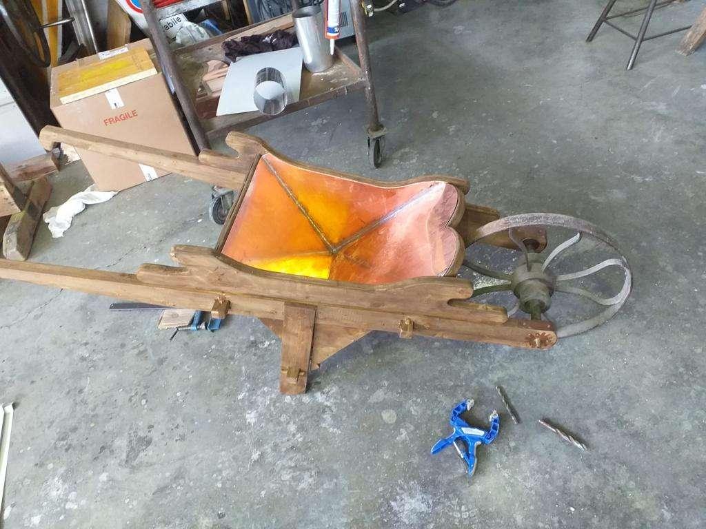 carriola - restauro manufatti metallici